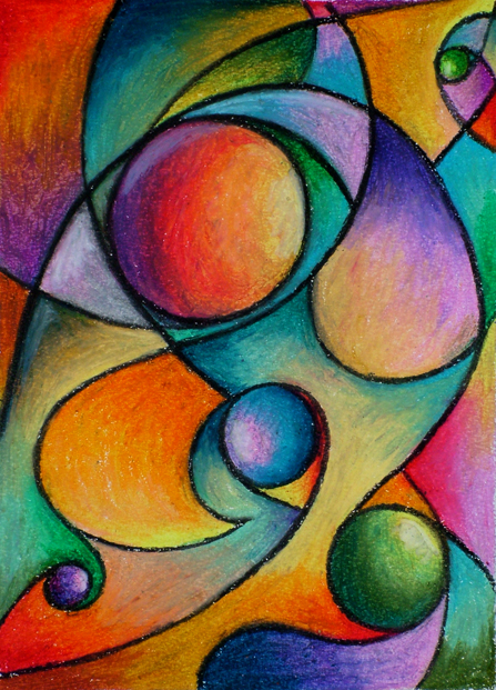 floridacreate: Abstract Drawings with Pastel